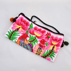fair trade embroidered cross body purse from Thailand