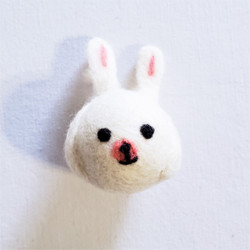 fair trade felted wool rabbit cat toy from Kyrgyzstan