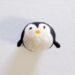fair trade felted wool penguin cat toy from Kyrgyzstan