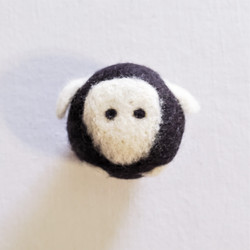 fair trade felted wool sheep cat toy from Kyrgyzstan