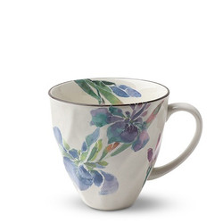 Fair Trade Purple Iris Flower Blossom Tea Cup from Japan