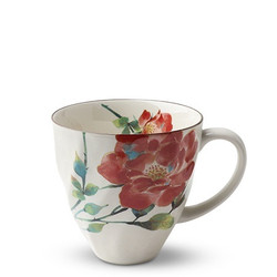 Fair Trade Red Rose Flower Blossom Tea Cup from Japan
