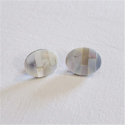 Fair  trade mother of pearl stud post earrings from Bali