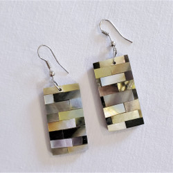 Fair  trade mother of pearl dangle earrings from Bali