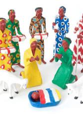 Fair Trade Papier Mache Nativity Set from Zambia
