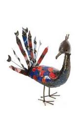 Fair Trade Recycled Metal Peacock Sculpture from Zimbabwe