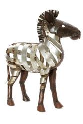 Fair Trade Recycled Metal Zebra Sculpture from Zimbabwe