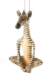 Fair trade carved jacaranda wood zebra ornament from Kenya