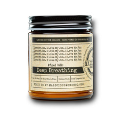 malicious women love my job soy candle in a jar