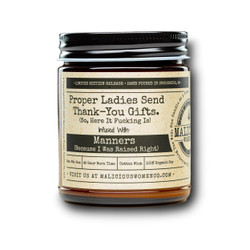 malicious women proper ladies send thank you gifts soy candle in a jar