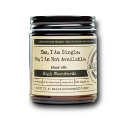 malicious women yes I am single soy candle in a jar
