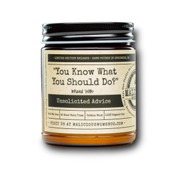 malicious women you know what you should do soy candle in a jar