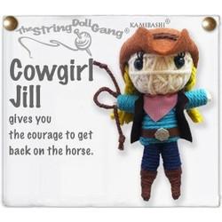 Cowgirl Jill  fair trade string doll keyring from Thailand