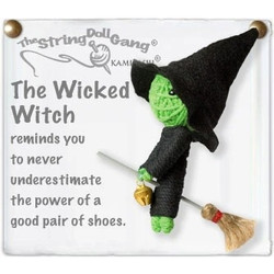 Wicked Witch  fair trade string doll keyring from Thailand