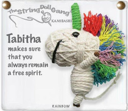 Tabitha fair trade string doll keyring from Thailand