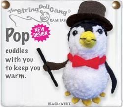 Pop fair trade string doll keyring from Thailand