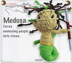 Medusa fair trade string doll keyring from Thailand