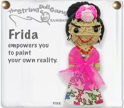 Frida fair trade string doll keyring from Thailand