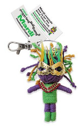Mardi fair trade string doll keyring from Thailand