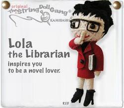 Lola the librarian fair trade string doll keyring from Thailand