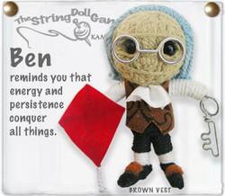 Ben fair trade string doll keyring from Thailand