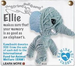 Ellie fair trade string doll keyring from Thailand