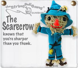 Scarecrow fair trade string doll keyring from Thailand