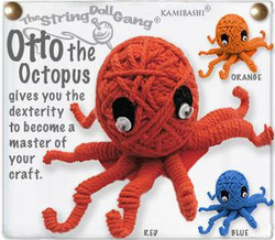 Otto the Octopus fair trade string doll keyring from Thailand