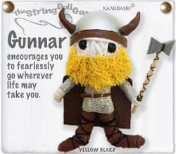 Gunnar fair trade string doll keyring from Thailand