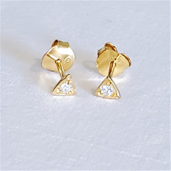 Fair trade gold filled and crystal stud post earrings from India