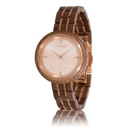 fair trade Phoenix walnut wood watch from Netherlands