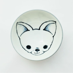 Fair trade painted bowl with chihuahua from Japan