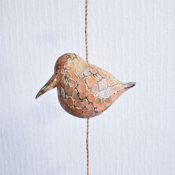 Fair trade painted albezia wood abstract seagull sculpture from Bali