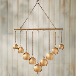 Fair trade copper annealed hanging chime from India