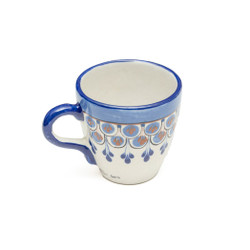 Hand painted stoneware mug from Guatemala