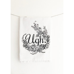 Ugh screen printed 100% cotton kitchen dish towel made in USA