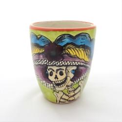 Fair trade Day of the Dead Catrina Calavera Hand Painted Talavera Mug from Mexico
