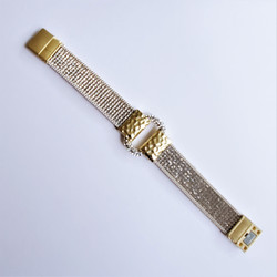 Fair trade silver crystal magnetic closure bracelet from China