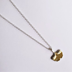 Fair trade sterling silver ginkgo leaf adjustable necklace from China