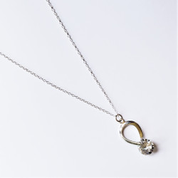 Fair trade crystal and sterling silver necklace from China