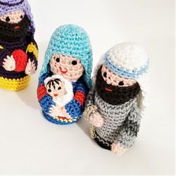 Fair trade crocheted cotton world nativity from Vietnam