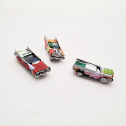 Fair trade mini recycled tin can convertible sedan from Madagascar