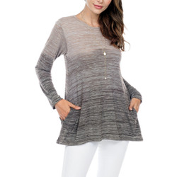 Fair trade grey ombre loose fit tunic top from Nepal