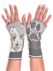 Recycled pre-consumer medium weight knit cotton blend dog hand warmers made in USA
