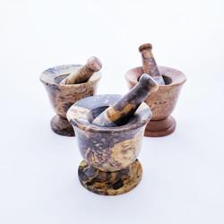 Fair Trade Carved Gorara Stone Mortar & Pestle from India