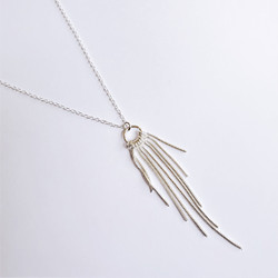 Fair trade sterling silver tassel necklace from China