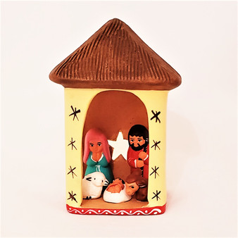 Fair Trade Hand Painted Ceramic Nativity from Peru