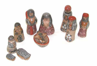 Fair Trade Marin Pre-Colombian Ceramic Nativity Set from Mexico