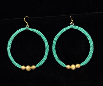 Fair Trade Bullet Casing Bead Earrings from Ethiopia