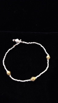 Fair Trade Brass & Silver Plated Bullet Casing Bead Bracelet from Ethiopia